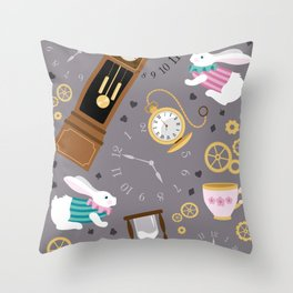 Late For The Party Throw Pillow