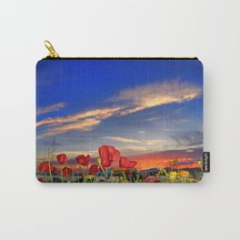Poppies at sunset Carry-All Pouch