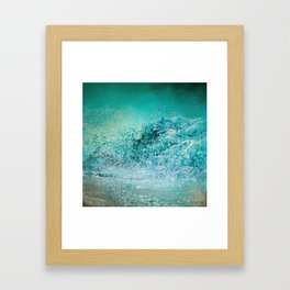 Turquoise Wave - Blue Water Scene Framed Art Print