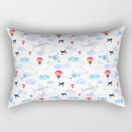 Airplanes and Balloons Rectangular Pillow