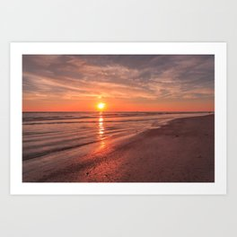 Sunburst at Sunset Art Print