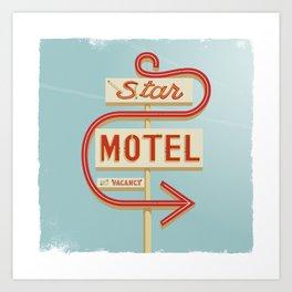 Star Motel Art Print