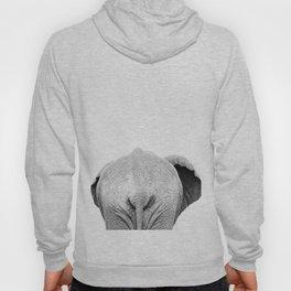 Elephant Back Photo | Black and White Hoody