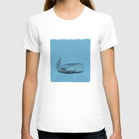 the whale T-shirts featuring whale by Tina Siuda