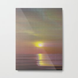Glitch_art: Sunset in Koh Chang Metal Print