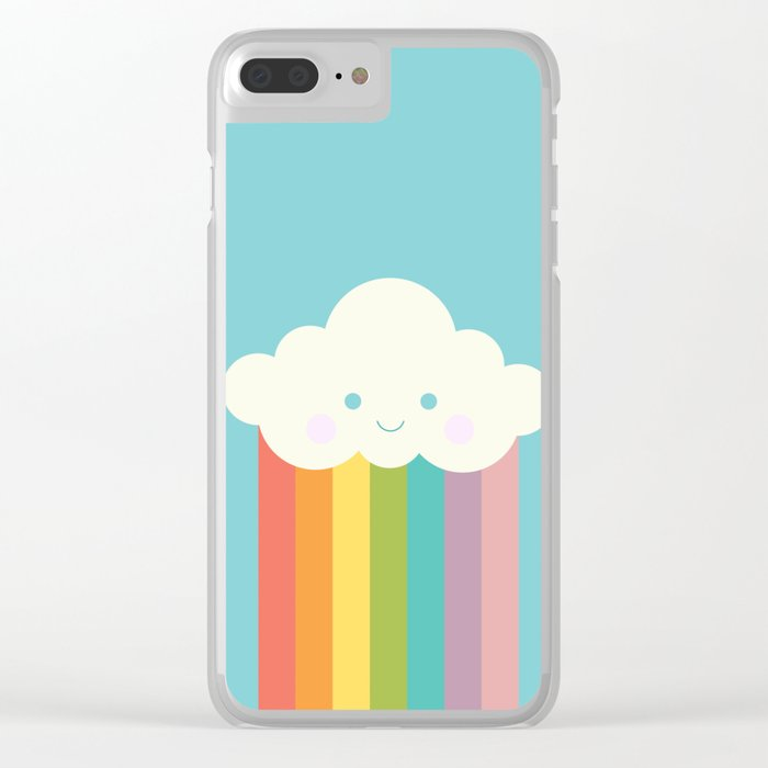 Proud rainbow cloud Clear iPhone Case