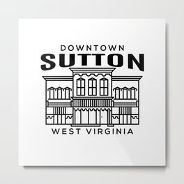 Downtown Sutton WV Metal Print