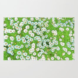 Daisies Painting Rug
