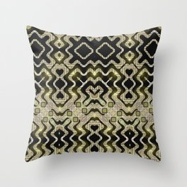 Tribal Gold Glam Throw Pillow