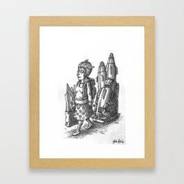 Shopping Day Framed Art Print