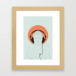 Buddha : Listen to Om! Framed Art Print
