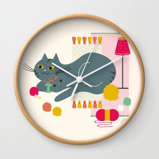 Cosy Cat Wall Clock