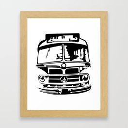 Bus To Haven Framed Art Print