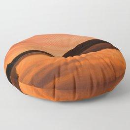Dawn on Fire: Lac du Saint Sacrement Floor Pillow