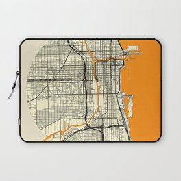 Chicago Map Moon Laptop Sleeve