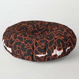 Abstract Black Nuts Floor Pillow