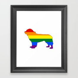 Rainbow Newfoundland Dog Framed Art Print