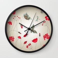 Tatemae Japanese Ochre Wall Clock