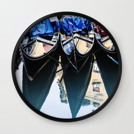 Gondole in Venice Wall Clock