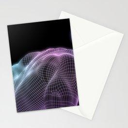 Human Body Digital Visualization Running Forward Art Stationery Cards