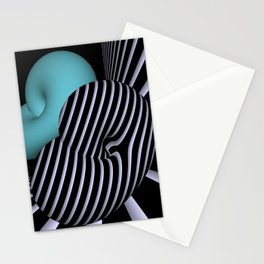 Klein's bottle in Op-Art design Stationery Cards