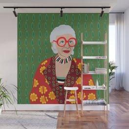 Iris Apfel Wall Mural