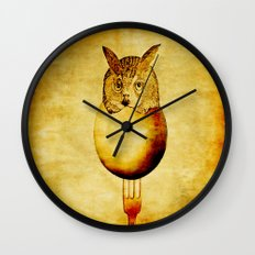 The hatching of owls Wall Clock