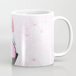 PINK FLAMINGO AND ORCHID OIL PAINTING Coffee Mug