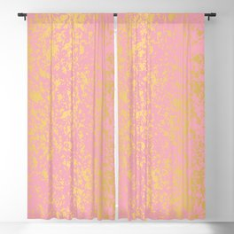 """Pale Pink """"Formica"""" with Gold Digital Design Blackout Curtain"""