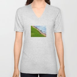 Land Meets Sea Unisex V-Neck