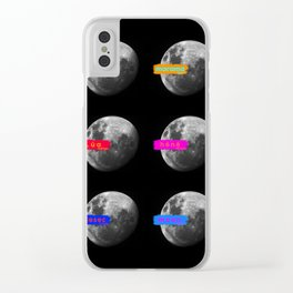 Moon languages of the world Clear iPhone Case