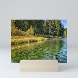 Jewel Like Tones of Clear Lake Mini Art Print
