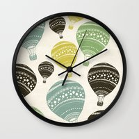 balloons Wall Clocks featuring Balloons by spinL