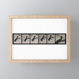 Going Going Gone the Sphinx Moth Caterpillar Framed Mini Art Print