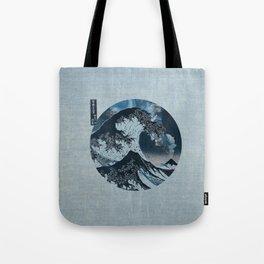 Great Wave Off Kanagawa Light Blue Tote Bag