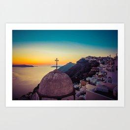 Adorable Santorini Art Print