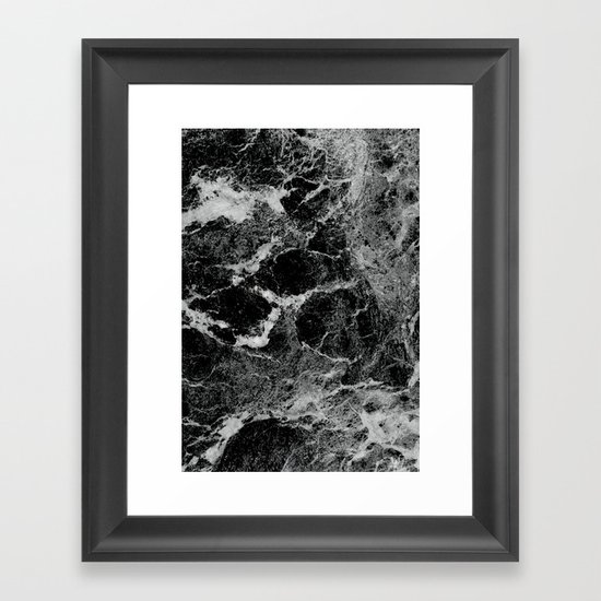 Marble Framed Art Print