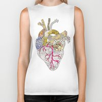 ellie goulding Biker Tanks featuring my heart is real by Bianca Green