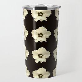 Sepia flower -bloom,blossom,petal,floral,leaves,flor,garden,nature,plant. Travel Mug