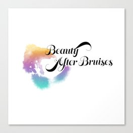 Beauty After Bruises (Black) Canvas Print
