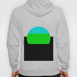 Aqua Blue & Green Mod Art Hoody