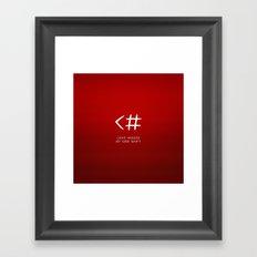 Love typo Framed Art Print