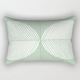 Minimal Tropical Leaves Pastel Green Rectangular Pillow