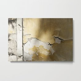 golden cracked wall Metal Print
