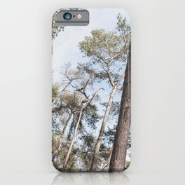 Look Up in the Woods | Landscape Nature Photography iPhone Case