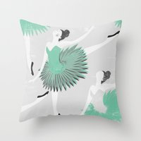ballet Throw Pillows featuring BALLET by Kiley Victoria