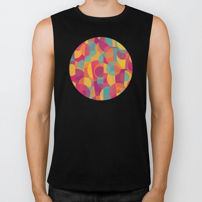 Abstract Circle Pattern - Colorful Dream Biker Tank