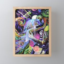 Colorful Psychedelic Love Romantic Galaxy Visionary Art Surreal Mother Earth Father Sky Nature  Framed Mini Art Print