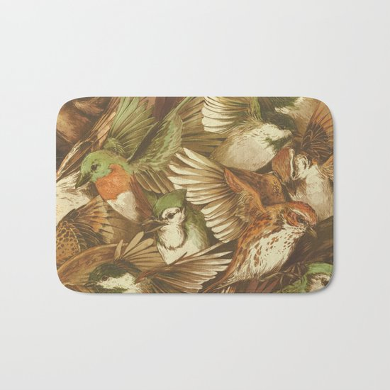 Red-Throated, Black-capped, Spotted, Barred Bath Mat