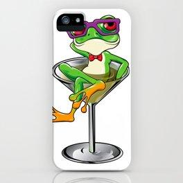 Cartoon Tree frog Martini cocktail iPhone Case